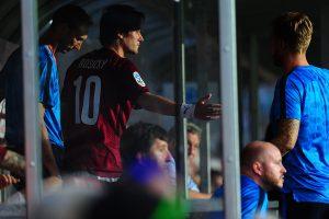 Utkání 1. Fotbalové ligy mezi celky AC Sparta Praha a Bohemians Praha. Tomáš Rosický nastupuje do zápasu.
